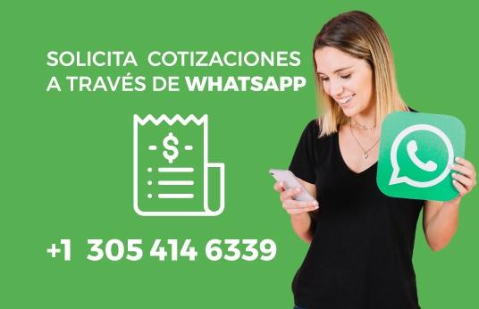 Silicita contización por Whatsapp
