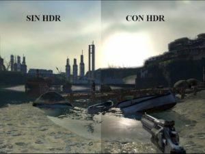 Modo HDR en videojuegos