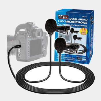 Micrófono Dual para entrevistas